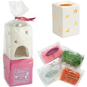 On A Wick & A Prayer Wax Melt Burner Gift Set - Glamour