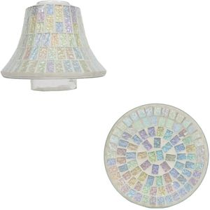 Aroma Jar Candle Shade & Plate Set: Ice White