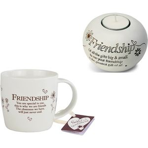 Said With Sentiment Friendship Mug & Candle Holder Set