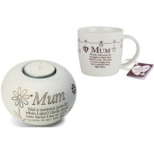Said With Sentiment Mum Mug & Candle Holder Set