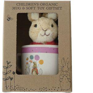Beatrix Potter Organic Bamboo Mug & Soft Toy Gift Set - Flopsy Bunny