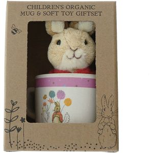 Beatrix Potter Peter Rabbit Organic Mug & Soft Toy Gift Set - Flopsy Bunny