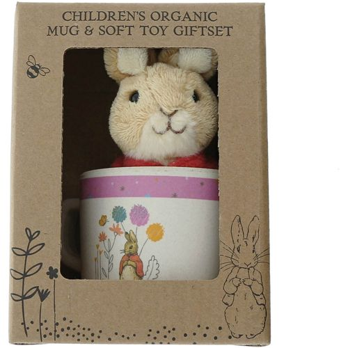 Beatrix Potter Peter Rabbit Organic Mug & Soft Toy Gift Set - Flopsy Bunny A28829