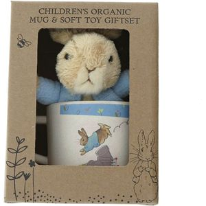 Peter Rabbit Organic Bamboo Mug & Soft Toy Gift Set