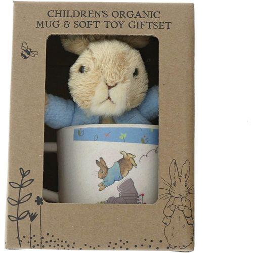 Beatrix Potter Peter Rabbit Organic Mug & Soft Toy Gift Set - Peter Rabbit A28837