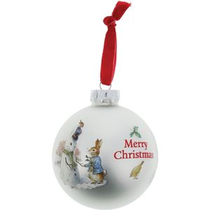 Beatrix Potter Peter Rabbit Christmas Bauble - Peter Rabbit & Snow Rabbit