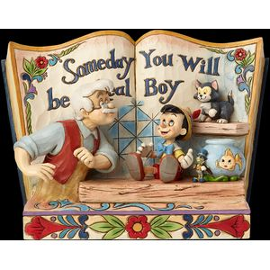 Disney Traditions Storybook Figurine - Someday You Will Be a Real Boy Pinocchio