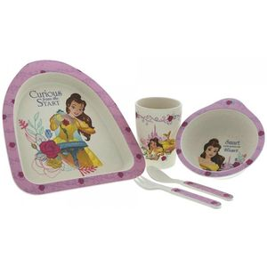 Disney Enchanting Organic Bamboo Dinner Set - Belle (Beauty & The Beast)