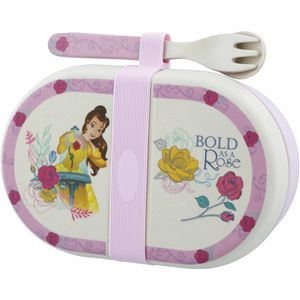 Disney Enchanting Organic Snack Box with Cutlery Set - Belle Beauty & The Beast