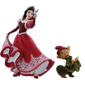 Disney Christmas Snow White & Dopey Figurines Set