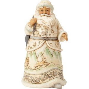 Heartwood Creek White Woodland When The Ice Calls Santa Figurine