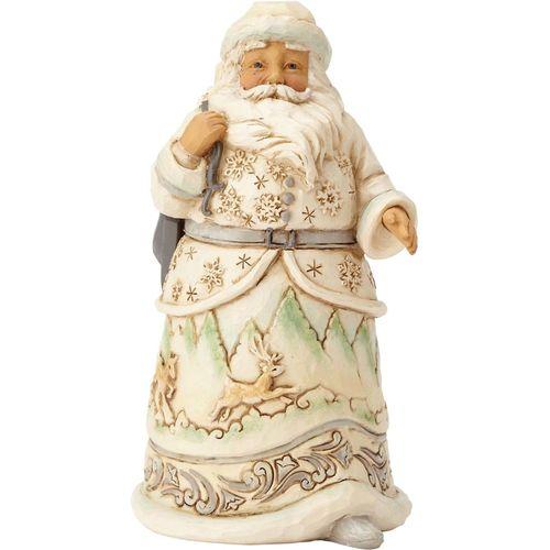 Heartwood Creek Santa Figurine White Woodlansd When The Ice Calls 4058737
