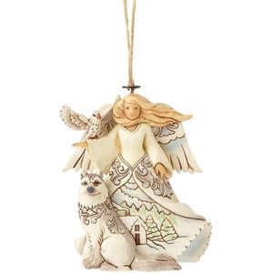 Heartwood Creek Hanging Ornament - White Woodland Angel