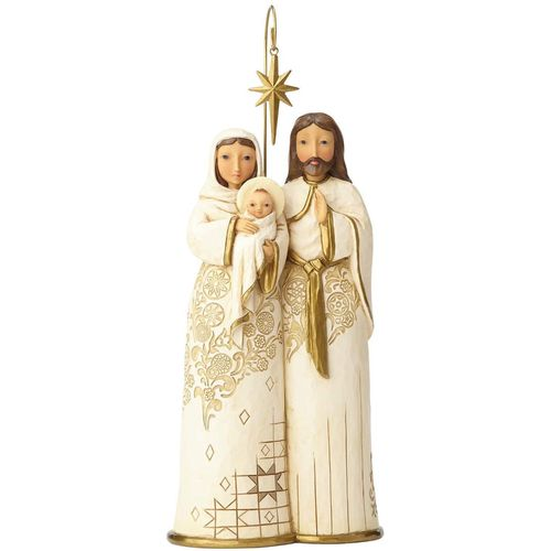 Heartwood Creek Behold & Believe Golden Garland Holy Family Figurine 4058762