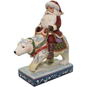 Heartwood Creek Bear with Me Santa Riding Bear Figurine
