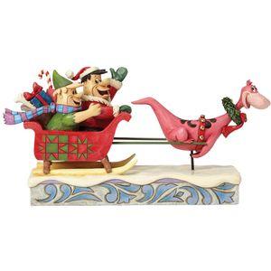 Yaba Daba Yuletide Figurine (Flintstone Sleigh Ride)