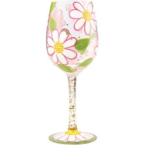 Lolita Hand Painted Wine Glass - Oops I Daisied Again