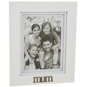 "Mum Photo Frame (White) 5x7"""