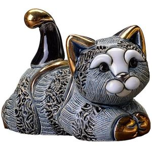 De Rosa Striped Kitten Resting Figurine