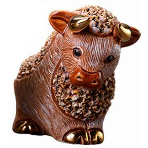 De Rosa Brown Bull Figurine