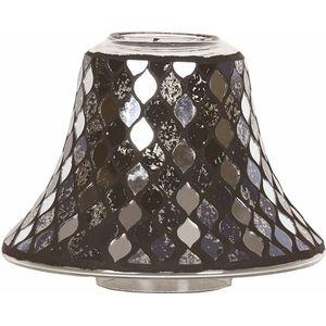 Aromatize Jar Candle Lamp Shade: Black Mirror Teardrop