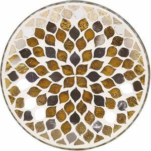 Aroma Jar Candle Plate: Gold Mirror Teardrop