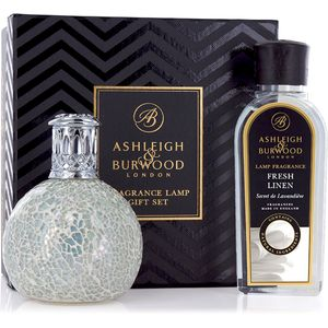 Ashleigh & Burwood Fragrance Lamp Gift Set - The Pearl & Fresh Linen