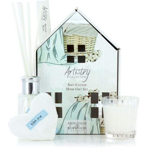 Ashleigh & Burwood Artistry Collection Home Fragrance Gift Set Soft Cotton Fragrance