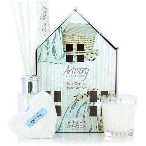 Ashleigh & Burwood Artistry Collection Home Fragrance Gift Set Soft Cotton Fragrance