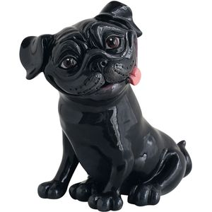 Little Paws Pete Pug Dog Figurine (Black)