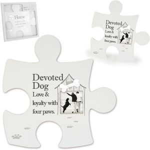 Said with Sentiment Devoted Dog Jigsaw Wall Art