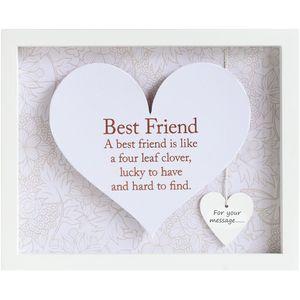 Heart Sentiment Frame - Best Friend