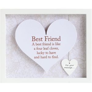 Said with Sentiment Heart in Frame - Best Friend
