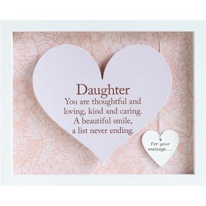 Heart Sentiment Frame with verse - Daughter