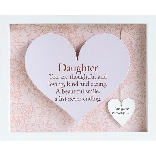 Said with sentiment Heart Frame - Daughter