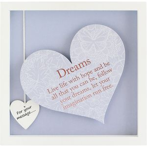 Said with Sentiment Heart Frame with Verse - Dreams