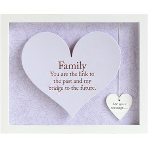 Said with Sentiment Heart Frame with verse - Family
