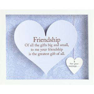 Said with Sentiment Heart Frame - Friendship