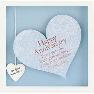 Said with Sentiment Heart in Frame - Happy Anniversary