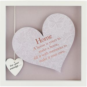 Said with Sentiment Heart in Frame - Home