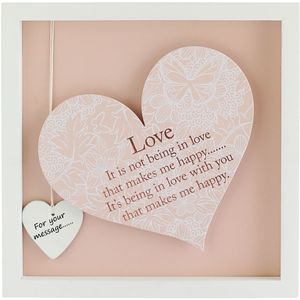 Said with Sentiment Heart Frame with verse - Love