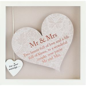 Said with Sentiment Heart Frame with verse - Mr & Mrs