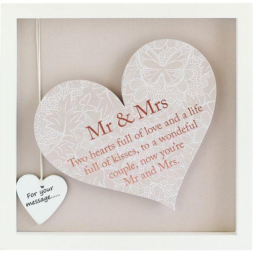 Frame with sentiment verse Mr & Mrs Wedding gift
