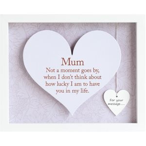 Said with Sentiment Heart Frame with Verse - Mum