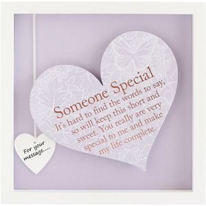 Said with Sentiment Heart in Frame - Someone Special