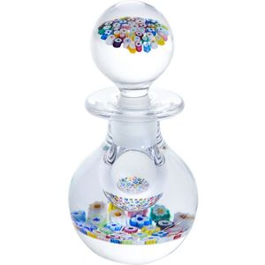 Caithness Glass Paperweight: Millefiori Garden Bottle