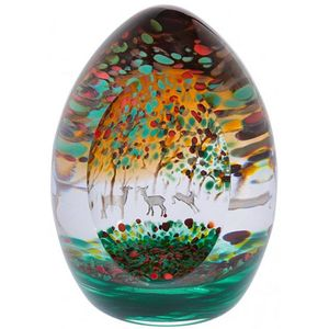 Caithness Crystal Woodland Seasons Autumn Paperweight