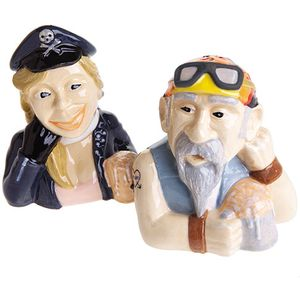 John Beswick Salt & Pepper Pots - The Bikers