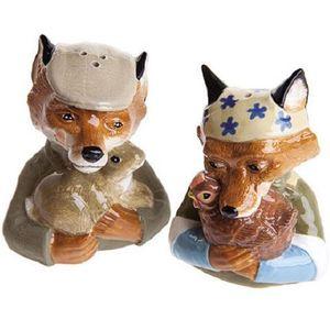 John Beswick Salt & Pepper Pots - Fantastic Foxes