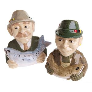 John Beswick Salt & Pepper Pots - Gone Fishing